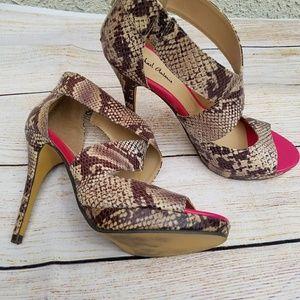 Michael Antonio snake skin high heels. Size 7.5